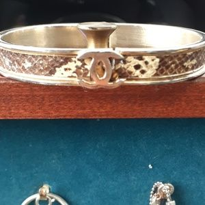 Vintage Chanel snake skin bracelet